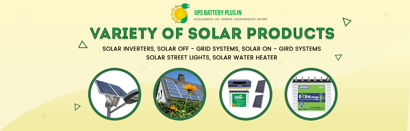 Variety of Solar Products