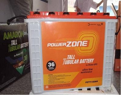 Amaron Powerzone 165ah Tall Tubular Battery In Chennai